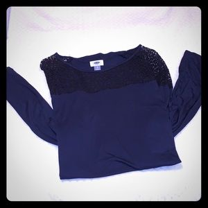 Old navy blue lace long sleeve 💙